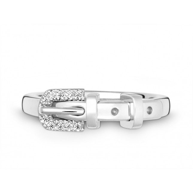 Ring 585Wg Bril. 0,05ct TW/SI