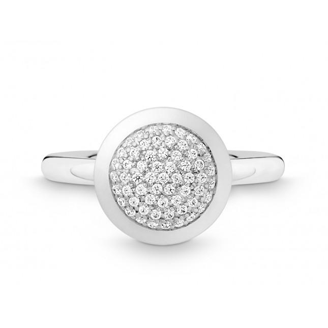 Ring Kreis 585Wg Bril. 0,28ct TW/SI