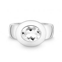 Ring 925Ag Weißtopas
