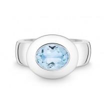 Ring 925Ag Blautop. b.