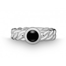 Ring Pan. 925Ag Onyx