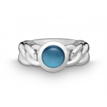 Ring Pan. 925Ag Blautop. b. London blue