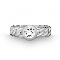 Ring Pan. 925Ag Weißtopas