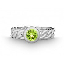 Ring Pan. 925Ag Peridot
