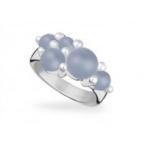 Ring 925Ag Chalcedon blau