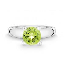 Ring 925Ag Peridot