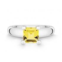 Ring 925Ag Citrin