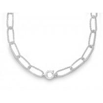 Halskette oval 925Ag