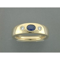Ring 750Gg Bril. 0,10ct TW/SI Saphir