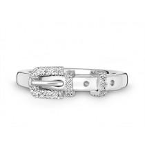 Ring 585Wg Bril. 0,15ct TW/SI