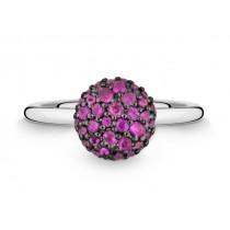 Ring 750Wg Saphir pink