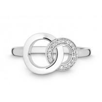 Ring 585Wg Bril. 0,08ct TW/SI