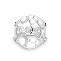 Ring Kreis 750Wg Bril. 0,11ct TW/SI
