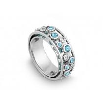 Ring 750Wg Bril. 0,15ct TW/SI Blautop. b.