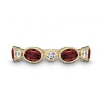 Ring 585Gg Bril. 0,18ct TW/SI Granat