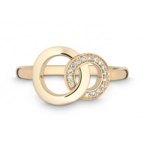 Ring 750Gg Bril. 0,08ct TW/SI