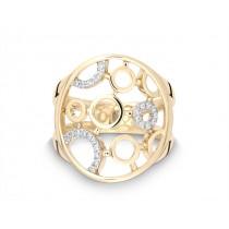 Ring Kreis 585Gg Bril. 0,11ct TW/SI
