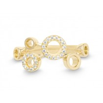 Ring 585Gg Bril. 0,12ct TW/SI