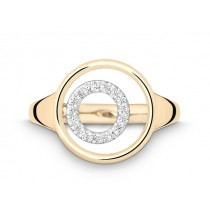 Ring 750Gg&Wg Bril. 0,08ct TW/SI