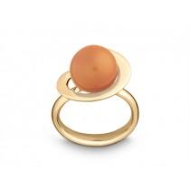 Ring Kugel 585Gg Mondst. pink/or.