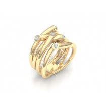 Ring 750Gg Bril. 0,15ct TW/SI