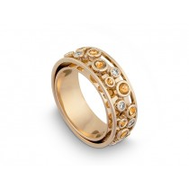 Ring 585Gg Bril. 0,15ct TW/SI Citrin