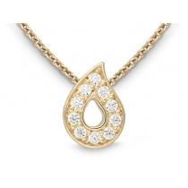 Halskette 585Gg Bril. 0,10ct TW/SI