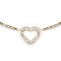 Halskette Herz 750Gg Bril. 0,12ct TW/SI