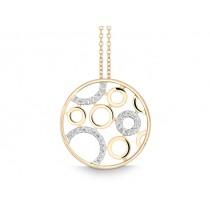 Halskette Kreis 585Gg Bril. 0,14ct TW/SI