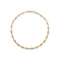 Halskette 585Gg Bril. 1,32ct TW/SI Citrin