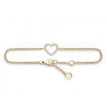 Armband Herz 750Gg Bril. 0,12ct TW/SI