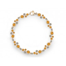 Armband 585Gg Bril. 0,87ct TW/SI Citrin