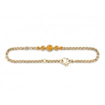 Armband 585Gg Bril. 0,06ct TW/SI Citrin