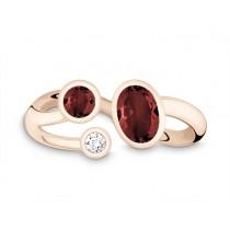 Ring 585Rg Bril. 0,06ct TW/SI Granat