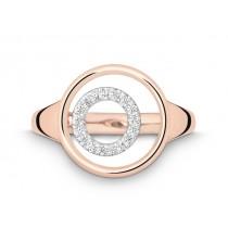 Ring 585Rg&Wg Bril. 0,08ct TW/SI