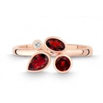 Ring 585Rg Bril. 0,02ct TW/SI Granat