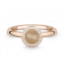 Ring 585Rg Bril. 0,11ct TW/SI Mondst. beige