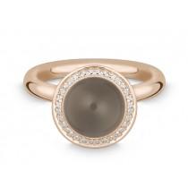 Ring 585Rg Bril. 0,16ct TW/SI Rauchquarz
