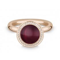 Ring 585Rg Bril. 0,16ct TW/SI Granat