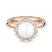 Ring 585Rg Bril. 0,16ct TW/SI Mondst. weiß