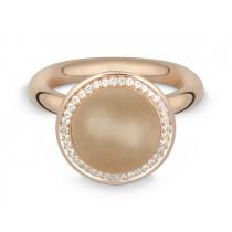 Ring 585Rg Bril. 0,19ct TW/SI Mondst. beige