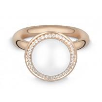 Ring 585Rg Bril. 0,19ct TW/SI Mondst. weiß