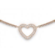Halskette Herz 750Rg Bril. 0,12ct TW/SI